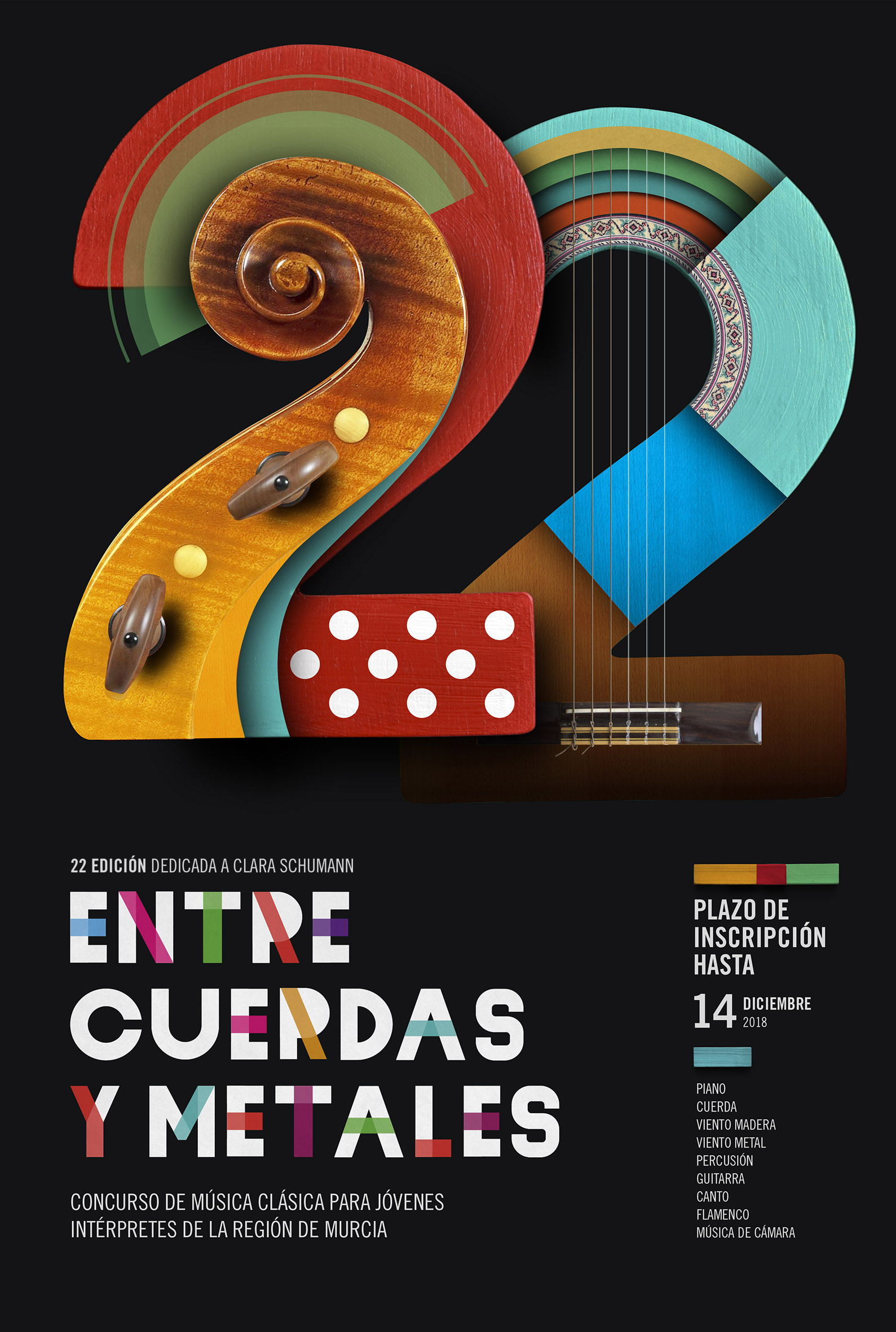 Cartel XXII Edición Entre Cuerdas y Metales